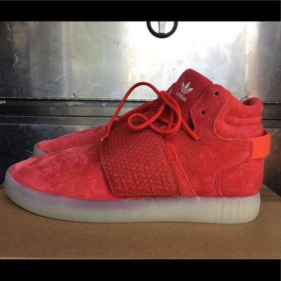 Le adidas originali tubulare invasore cinghia rosso Uomo 10 poshmark